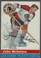 1954-55 Topps Chicago Blackhawks Hockey Card #43 Jack McIntyre