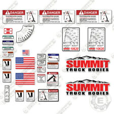 Summit 10620 Decal Kit Full Safety Stickers with Logos - 7 YEAR 3M VINYL!
