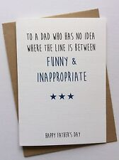 Handmade Personalised Fathers Day Card: Funny & Inappropriate (Rude Humour)