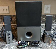 Altec Lansing VS4121 2.1 Computer Speaker Sound System Audio Tested Pre-owned