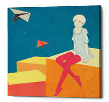 "Epic Graffiti ""Paper Airplanes"" by Sai Tamiya, Giclee Canvas Wall Art"