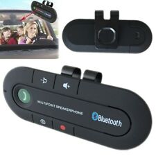 Black Bluetooth Hands free In Car Wireless Speaker Phone Kit Visor Clip