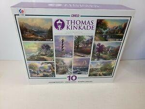Thomas Kinkade 10 In 1 Jigsaw Puzzles Multi Pack Set New