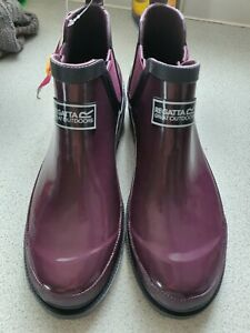 Regatta Lady Harper Welly Size  UK 6.5 PLUM COLOUR NEW WITH TAGS
