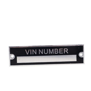 Pre- Engraved Vin Tag Aluminum plate Custom engraved with your Number
