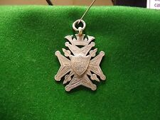 solid silver watch fob medal 14.7g