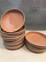 "11 PRISMA RADIUS Made in Japan Massimo VIGNELLI Designs Pink CORAL Bowls 7.5"""