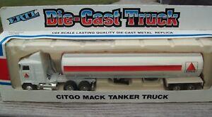 "ERTL #9262FO ""TRUCKS OF THE WORLD"" R MACK CITGO TANKER TRUCK, DIECAST, VGC"
