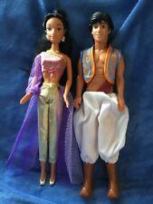 Disney Princess Jasmine & Aladdin dolls Rare Jasmine