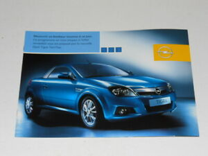 OPEL TIGRA TWIN TOP brochure catalogue documentation commerciale édition 01/2004
