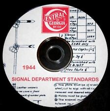 Central of Georgia Railroad 1944 Signal Department Standards  PDF Pages on DVD