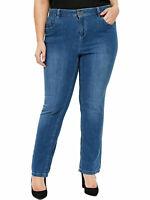 "Womens Ex Evans Blue Denim Pear Fit Jean 29"" 30"" Straight Leg Ladies Plus Size"