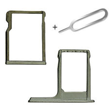 Para HTC One M8 Gris Sim y Micro SD Memoria Card Tray Slot Titular + Eject Pin
