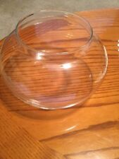 Clear Glass Large Decorative Bowl