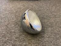 "bsa triumph norton ajs Lucas 8"" Chrome Headlamp Headlight dome glass with 1 hole"