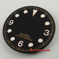 30.4mm black dial rose golden marks Watch Dial for 2824 2836 Movement D52