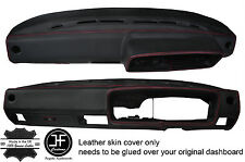 RED STITCHING DASH DASHBOARD REAL LEATHER COVER FITS VW GOLF MK1 JETTA EARLY