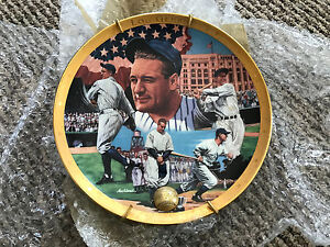 FRANKLIN MINT ROYAL DOULTON LOU GEHRIG THE IRON HORSE COLLECTOR PLATE i