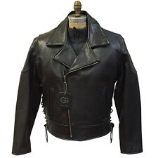 G-gator Men s Leather Motorcycle Jacket   Real Alligator Trimming Size 46.   1 d3889c5a72b