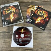 Resident Evil 5 (Sony PlayStation 3, 2009) VGC Complete w/Manual CIB Tested! PS3