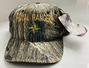 ROYAL RANGERS Patch Snap Back Camouflage Cap Realtree NWT Hat