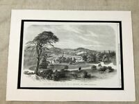 Antique Print Alton Towers Stately Home Victorian Mansion  Earl of Shrewsbury
