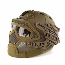 New Protective Tan Goggles G4 System Full Face Mask Helmet Airsoft Paintball