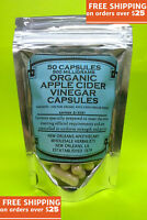 Apple Cider Vinegar Capsules(100%)**Organic**Zero Fillers*50x Stronger than 2%