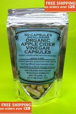 Vinaigre Du Cidre de Pomme Capsules (100%) Organique Zero Remplisseurs 50x