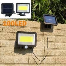 100 LED Garden Wall Lights Solar Powered PIR Motion Sensor Outdoor Flood Lamp