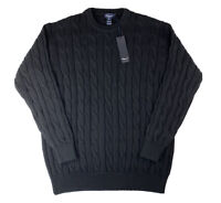 NEW Blumarine Uomo Black Cable Knit Sweater, Sz Women's XL, Made in Italy Unisex