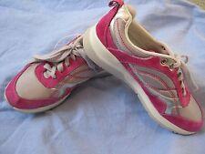 Earth Traveler Women US 5 B  FUCHSIA Pink GRAY Sneakers Lace up Walking Casual