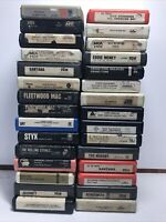 Lot Of 30 Classic Rock 8-track Tapes: Aerosmith, Eagles, Journey, Led Zeppelin