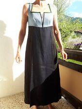 Gössl Trachten Leinen Mieder Kleid Gr. 44 blau-schwarz wie neu