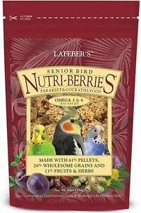 Lafeber Senior Bird Nutri-Berries Parakeet Cockatiel Food 10 oz FRESH 2022