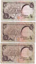 More details for mix of central bank of kuwait quarter dinar banknotes | banknotes | km coins