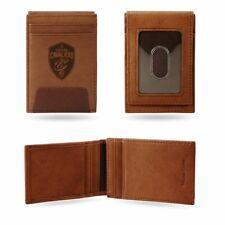 Cleveland Cavaliers NBA en relieve de cuero marrón Clip de Dinero de Bolsillo Frontal Billetera
