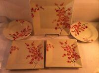 5 PC--TABLETOPS GALLERY --CELINE--DINNER & SALAD PLATES--SHIPS FREE---VGC