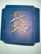 US ARMY 271ST INFANTRY OFFICER COLLAR INSIGNIA -1 PAIR