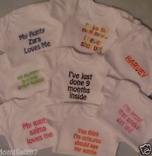 BABY VEST/BODY SUIT PERSONALISED BABYGROW,  BOY OR GIRL CLOTHES,  FUNNY GIFT