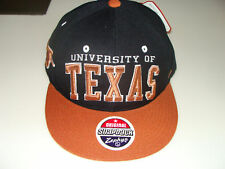 Zephyr University Texas Longhorns Snapback Cap Hat NCAA