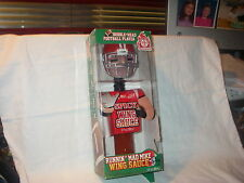 BOBBLE-HEAD FOOTBALL PLAYER LOUISIANA SPICY WING SAUCE RUNNIN MAD MIKE NEW IN PK