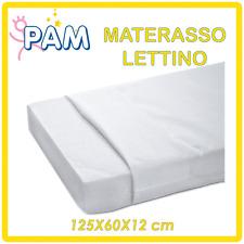 LETTINO MATERASSO ANALLERGICO ANTISOFFOCO 125X60X12 IN FIBRA TERMOLEGATA - NUOVO