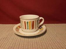 Noritake China Surprise B338W10 Pattern Cup & Saucer Set