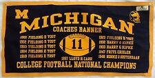 Michigan Wolverines Football NCAA National Championship Coaches Banner