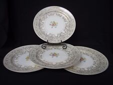 "Homer Laughlin HLC 256 VTG Dinnerware Eggshell Nautilus 9.75"" Dinner Plate 4 pc"