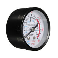 1/4 BSP Male Threaded 0-180 PSI 0-12Kg/cm2 Bar Air Pressure Gauge Air Compressor