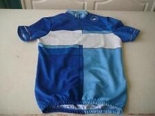 maillot de vélo vintage Castelli bleu et blanc 64cm sur 46
