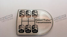 Eaton Fuller 15 speed transmission old style D shaped shift knob medallion 21820