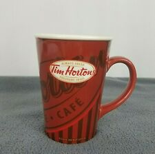 2008 Tim Hortons Limited Ed. Logo Ceramic Coffee Mug Red 16oz Cup Bilingual